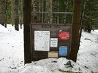 One of the signboards at the trailhead at Barlow Pass.
