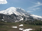 Majestic Mt. Rainier rises above everything else at the start of the Burroughs Mountain Trail.