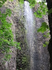 Cape Horn Trail waterfall. The trail goes behind the waterfall.