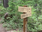 The trail to Elk Meadows passes by the junction to Umbrella Falls. It appears new trail signs were installed in 2010.