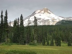 Elk Meadows has fine views of Mt. Hood. The meadow is marshy in places.
