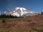 Mt. Rainier and fall colors on High Lakes Trail. Picture taken 9/27/2005 about 1pm.