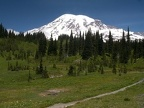 Mt. Rainier from the High Lakes Trail. Picture taken 7/3/2005 about noon.