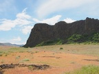 Looking at Horsethief Butte from near the trailhead.