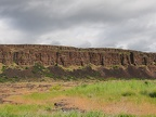 Looking north at other basalt formations.