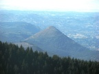 Tumtum Mountain from Huffman Peak. You can see it is an ancient cinder cone.