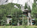 The backside of Ahwahnee Hotel, Yosemite Valley