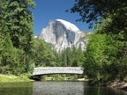 Merced River and Half Dome in Yosemite Valley California