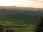 Sunset at Kamiak Butte with Steptoe Butte in the distance to the north.