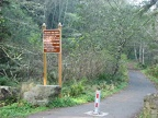 Main trailhead near Ilwaco, WA for the Lewis and Clark Discovery Trail. This trailhead at the south end of the trail.