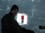 I cut a couple of windows in the igloo the next morning so we could cook while sitting inside.