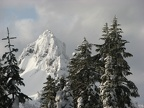 Pinnacle Peak in the Tatoosh Range looks like a matterhorn. What a view from our camp!