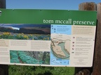 There are several signs explaining features of the Tom McCall Nature Preserve.