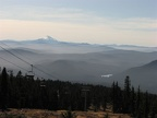 From near Timberline Lodge the view to the south shows Mt. Jefferson on the horizon.