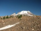 As you follow the Palmateer trail higher and higher patches of snow linger all year.
