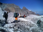 Digging in at Camp Muir