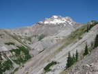 Mt. Hood from the south edge of Zigzag Canyon. From here the Timberline Trail descends to cross the creek.