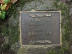 This plaque is at the junction where Gorge Trail #400 heads east from the Larch Mountain Trail #441 near Multnomah Falls.