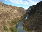 The Crooked River has cut a deep canyon through the basalt of Central Oregon.