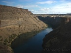 The Crooked River turns into Lake Billy Chinook at the turnaround point of the hike. High basalt cliffs provide a nice vantage point.