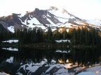 Mt. Jefferson at sunset from the north side of Scout Lake.