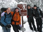 Hiking the Wonderland seems like a great alternative. It will be nice and quiet since the road isn't open. Left to right, Steve, Meagan, Tim, and Mark