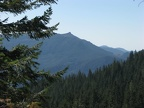 On the Pacific Crest Trail there are views to the east of the distant mountains.