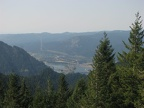 Columbia River and the Bonneville Dam in the distance.