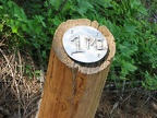 Milepost markers along the Saddle Mountain Trail