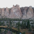 The Crooked River makes a big oxbow around Smith Rock State Park.
