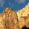 Look at the wonderful colors of this rock contrasted against the blue sky.