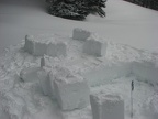 Here are blocks that I use for the first leyer of the igloo. Photo courtesy of Justin Gnarly Byington.