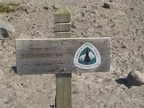 First trail marker as you leave the lodge area.
