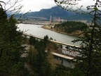 Looking west at the first viewpoint towards the Bonneville Dam