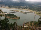 Looking west from Wauna Viewpoint towards the Bonneville Dam
