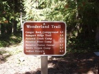 The first trail marker