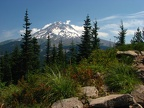 Here is a nice view of Mount Hood from the Burns Lake area.