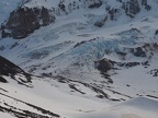 Looking down at Ladd Glacier.