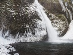Horsetail Falls in winter