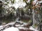 An icy little grotto on Eagle Creek Trail