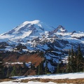 The crisp day provided perfect views of Mt. Rainier. This is from Cowlitz Divide.
