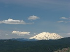 Mt. St. Helens graces a beautiful sky from the Augspurger Mountain Trail.