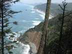 Continuing past Cape Falcon, the Oregon Coastal Trail has this view looking north towards Arch Cape.
