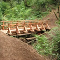 New footbrige on the Cape Horn Trail. Built by the Washington Trail Association in 2011.