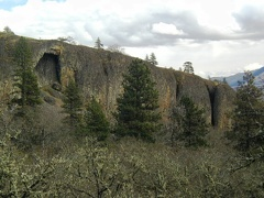 Stone Arch in basalt looking east along Catherine Creek in the Columbia Gorge