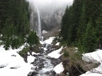 The snow can stay late at Comet Falls.