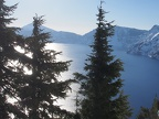 A beautiful sunny day at Crater Lake.