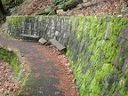 The lower section of the Wahkeena Falls Trail is wide and paved to handle the heavy foot traffic.
