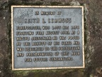 A Bronze plaque commemorating the service of Keith Lemmons at Lemmons Viewpoint on the Wahkeena Falls Trail.
