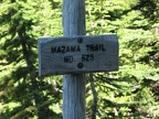 The trail junction with the Timberline Trail and the trailhead of the Mazama Trail are well signed.